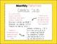 Monthly Patterned Calendar Cards {GROWING BUNDLE}
