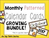 Monthly Patterned Calendar Cards {BUNDLE}