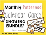 Monthly Patterned Calendar Cards {BUNDLE}