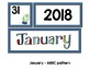 Monthly Patterned Calendar Cards {JANUARY}