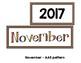 Monthly Patterned Calendar Cards {NOVEMBER}