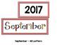 Monthly Patterned Calendar Cards {SEPTEMBER}