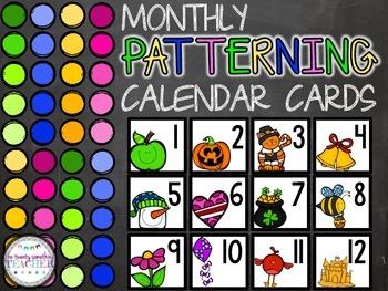 Monthly Patterning Calendar Cards