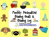 Monthly Personalized Reading Goals and Log