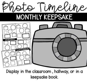 Monthly Photo Timeline (Display and Keepsake)