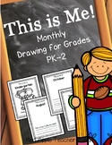 Monthly Picture Draw & Write for PK-2 {Me Throughout the School Year}