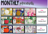 Monthly Place-mats- #WarmUpWithSped3