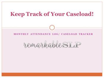 Monthly Planner/Attendance/Caseload Tracker