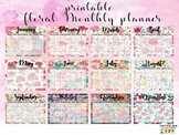 Monthly Planner (Floral Design)