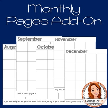 Monthly Planner Pages