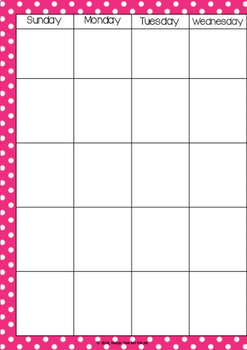 Monthly Planner Pages {A5 size}