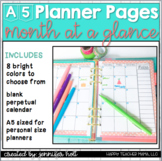 Monthly Planner Pages (A5 size)