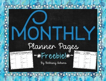 Monthly Planner Pages *~*Freebie!*~*