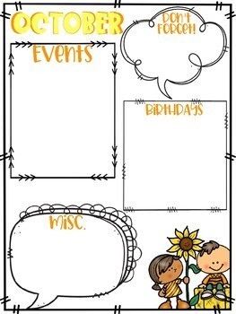 Monthly Planner Reminder Pages