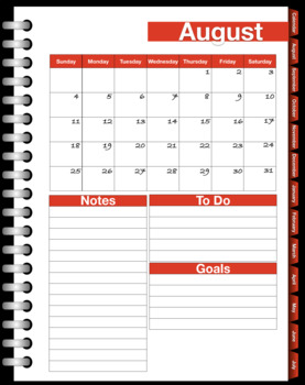 Monthly Planner for Goodnotes Sample (2019-2020)