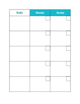 Monthly Planning Calendar