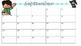 Editable Monthly Planning Calendar 2016-2017