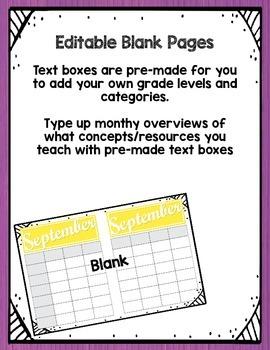 Monthly Planning Calendar EDITABLE!