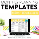 Monthly Planning Calendar Templates {Digital & Editable}