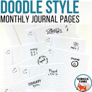 Monthly Bullet Journal Template