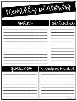 Monthly Planning Posters Using Sticky Notes