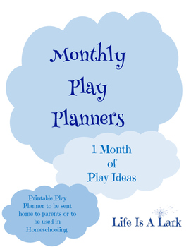 Monthly Play Planners...September Only