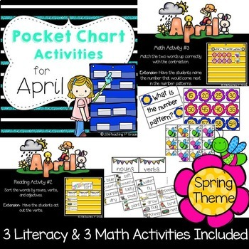 Monthly Pocket Chart Activities- Growing Bundle
