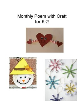 Monthly Poem with Craft for K-2