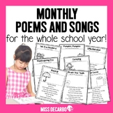 Monthly Poems and Songs - Distance Learning