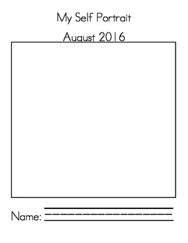 Monthly Portrait and Name Booklet