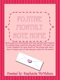 Monthly Positive Parent Communication Notes-Freebie
