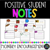 Positive Student Notes | Monthly Student Notes | Target Adhesive Pockets Labels