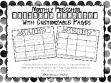 Monthly Preschool Homework Calendar
