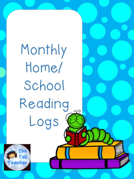 Monthly Print-and-Go Home/School Reading Logs