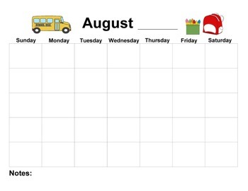 Monthly Printable Calendar Sampler Set