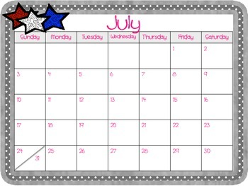 Monthly Printable Calendars