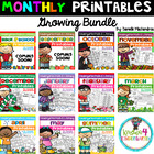 Monthly NO PREP Printables - GROWING BUNDLE (Kindergarten)