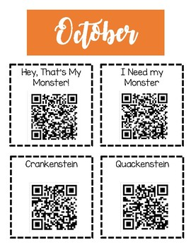 Monthly QR Codes September - January