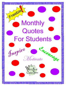 Monthly Quotes For Students