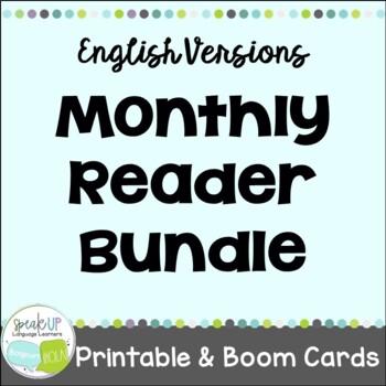 Monthly Reader Bundle {January-December} Young Readers, ESL, EFL