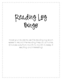 Monthly Reading Bingo Sample
