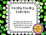 Monthly Reading Calendars 2018-2019