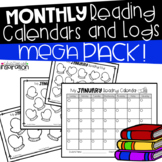 Monthly Reading Calendars and Logs MEGA Pack