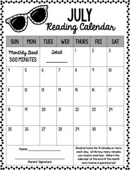 Monthly Reading Calendars {editable}