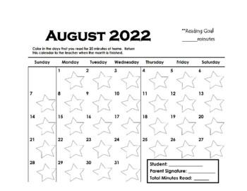 Monthly Reading Calendars (editable)