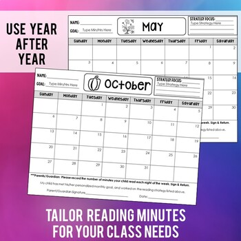 Monthly Reading Calendars (with personalized strategy focus)