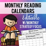 EDITABLE Monthly Reading Calendars (with personalized strategy focus)