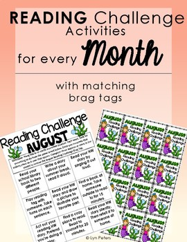 Monthly Reading Challenege for the ENTIRE Year
