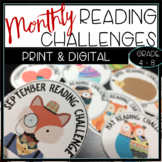 Monthly Reading Challenge Badges & Sheets