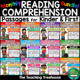 Monthly Reading Comprehension Passages for Kindergarten and First BUNDLE